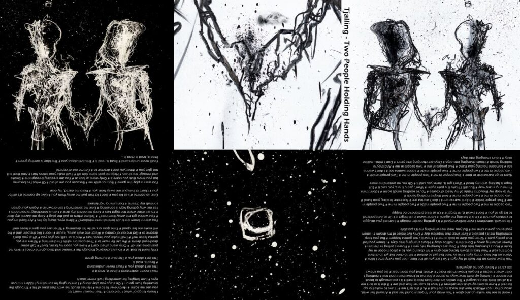artwork ontwerp voor de cd Two People Holding Hands van Tjalling
